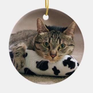 Bud & His Kickaroo Round Ceramic Ornament