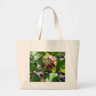bud in autumn large tote bag