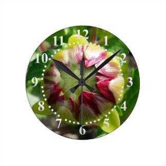 bud in autumn wall clocks