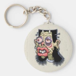 Bud of Frankenstein Basic Round Button Keychain