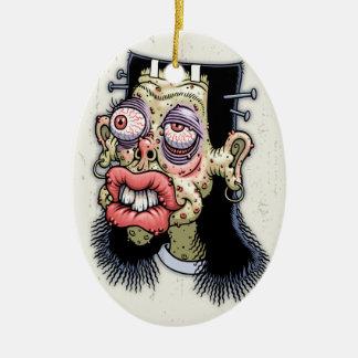 Bud of Frankenstein Ceramic Oval Ornament