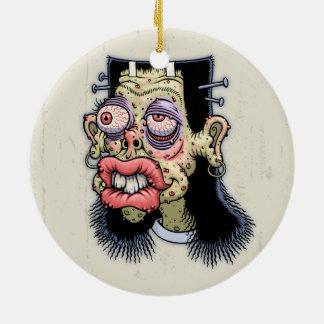 Bud of Frankenstein Round Ceramic Ornament