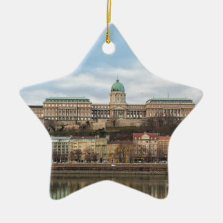 Buda Castle Hungary Budapest at day Ceramic Ornament