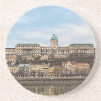 Buda Castle Hungary Budapest at day Drink Coasters