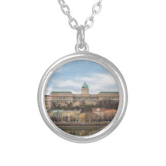 Buda Castle Hungary Budapest at day Silver Plated Necklace