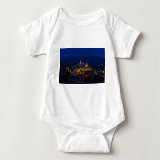 Buda Castle Hungary Budapest at night Baby Bodysuit