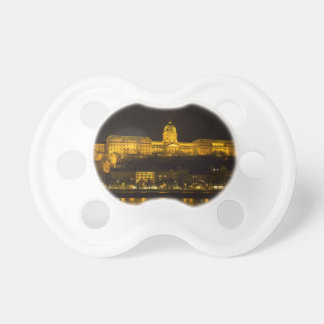 Buda Castle Hungary Budapest at night Baby Pacifier