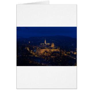 Buda Castle Hungary Budapest at night Card