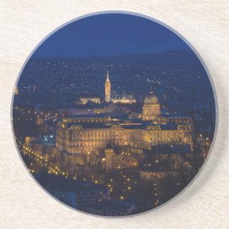 Buda Castle Hungary Budapest at night Coaster