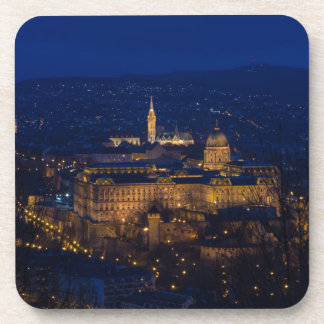 Buda Castle Hungary Budapest at night Coasters