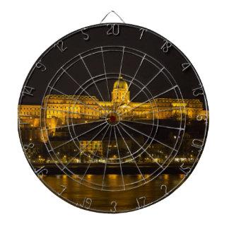 Buda Castle Hungary Budapest at night Dartboard
