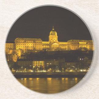 Buda Castle Hungary Budapest at night Drink Coaster