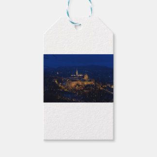 Buda Castle Hungary Budapest at night Gift Tags