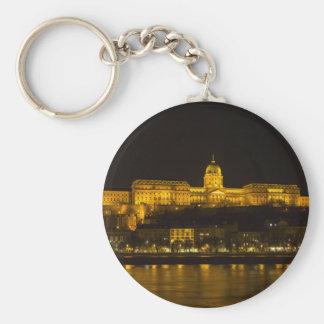 Buda Castle Hungary Budapest at night Keychain