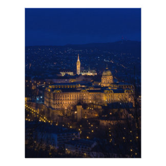 Buda Castle Hungary Budapest at night Letterhead