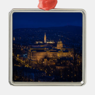 Buda Castle Hungary Budapest at night Metal Ornament
