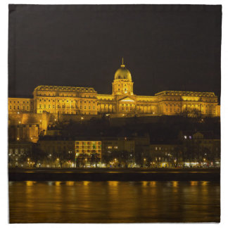 Buda Castle Hungary Budapest at night Napkins