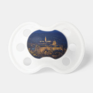 Buda Castle Hungary Budapest at night Pacifier