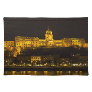 Buda Castle Hungary Budapest at night Placemat