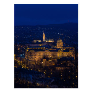 Buda Castle Hungary Budapest at night Postcard