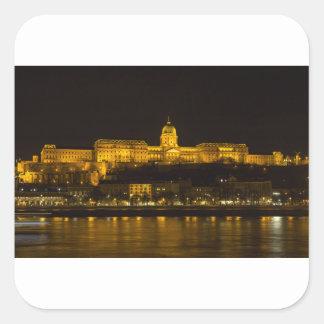 Buda Castle Hungary Budapest at night Square Sticker