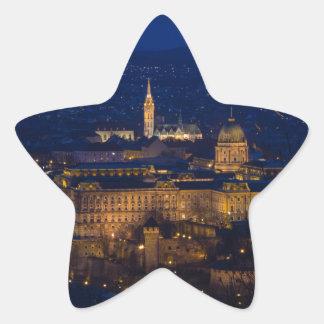 Buda Castle Hungary Budapest at night Star Sticker