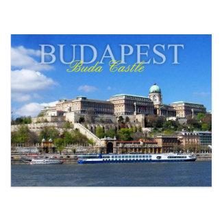 Buda Castle overlooking River Danube in Budapest Postcard