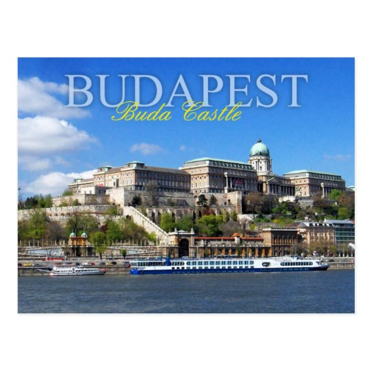 Buda Castle overlooking River Danube in Budapest Postcard