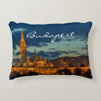 Budapest Architecture Accent Pillow