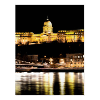 Budapest At Night Art Postcard