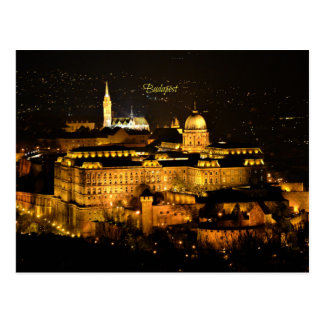 Budapest at Night Postcard