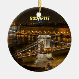Budapest Beautiful Scenic Christmas Ornament