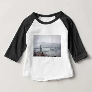 Budapest bridge over danube river picture baby T-Shirt