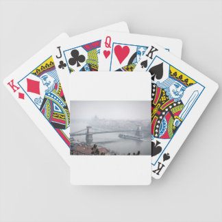 Budapest bridge over danube river picture bicycle playing cards