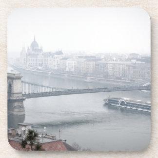 Budapest bridge over danube river picture coasters