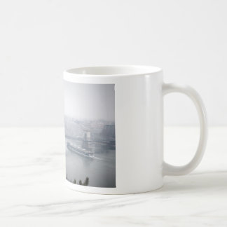 Budapest bridge over danube river picture coffee mug