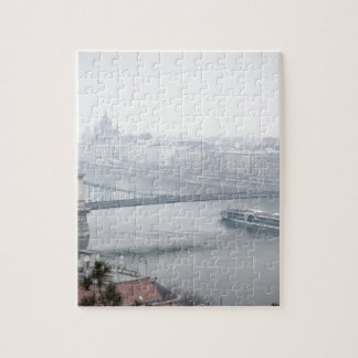 Budapest bridge over danube river picture jigsaw puzzle