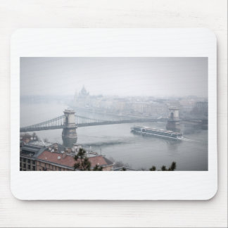 Budapest bridge over danube river picture mouse pad