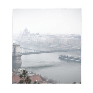 Budapest bridge over danube river picture notepad