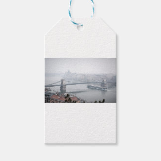 Budapest bridge over danube river picture pack of gift tags
