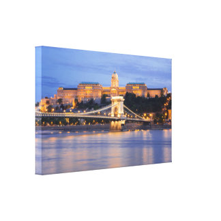 Budapest by night canvas print