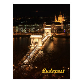 Budapest by night postcard