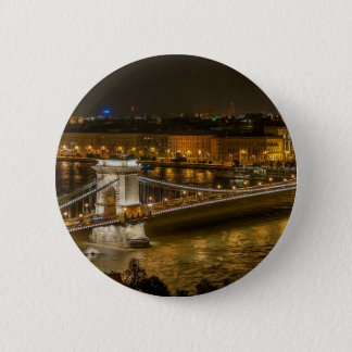 Budapest Chain Bridge 2 Inch Round Button