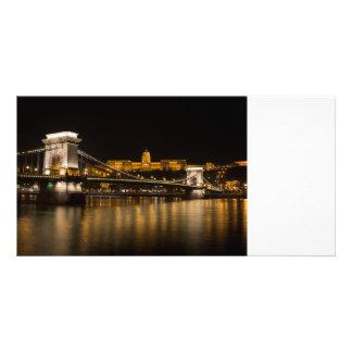 Budapest Chain Bridge And Castle Card
