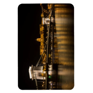 Budapest Chain Bridge And Castle Magnet