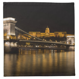 Budapest Chain Bridge And Castle Napkin