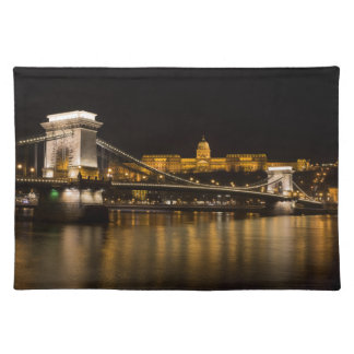 Budapest Chain Bridge And Castle Placemat