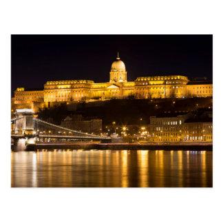 Budapest Chain Bridge and Castle Postcard