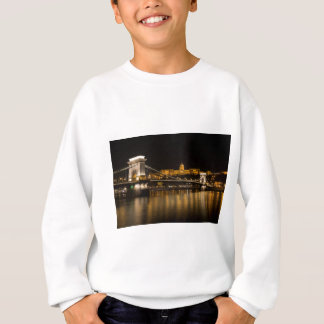 Budapest Chain Bridge And Castle Sweatshirt