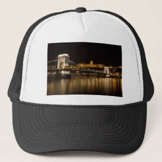 Budapest Chain Bridge And Castle Trucker Hat